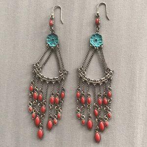 Lucky Brand  Bohemian Chandelier earrings